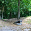 Old Civil War barricades on the park's historic hiking trail.- Leesylvania State Park Campground
