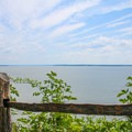 Clear skies over the Potomac River.- Leesylvania State Park Campground
