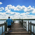 Looking west from the large fishing pier.- Whitten Park
