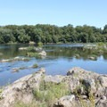 View from the River Rock Scramble.- Scott's Run Nature Preserve
