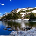 The lake's altitude means a late snow melt. If you go in spring/early summer, expect snow.- Lost Lake Hike