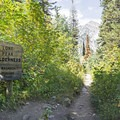 Entering the Lone Peak Wilderness.- Lower Red Pine Lake Trail