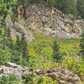 Beautiful rock formations along the upper trail.- Lower Red Pine Lake Trail