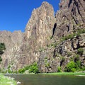 View from the river.- Gunnison Route