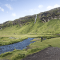 This cliff may have once been Iceland's coast line.- Seljalandsfoss