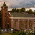 The main grounds at Paterson Great Falls National Historic Park.- Paterson Great Falls National Historic Park