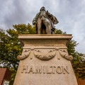 A statue for Alexander Hamilton, the man who brought the Industrial Revolution to Paterson, New Jersey.- Paterson Great Falls National Historic Park