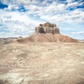 Wild Horse Butte towering over the trail.- Wild Horse Bike Trail System
