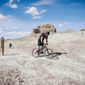 Pedaling out through the Lizard Foot and Buffalo Head junction.- Wild Horse Bike Trail System