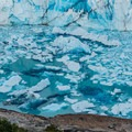 Close-up of the icebergs calving off the front of Perito Moreno.- Los Glaciares National Park