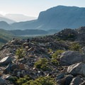 The moraine surrounding Laguna Torre.- Los Glaciares National Park