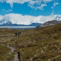 The far side of the divide along the Huemul Circuit.- Los Glaciares National Park