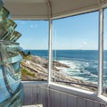The view from the top of Pemaquid Lighthouse.- Pemaquid Lighthouse