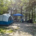 Typical site in Woodford State Park Campground.- Woodford State Park Campground