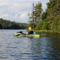 The lake is great for kayaking at Woodford State Park Campground.- Woodford State Park Campground