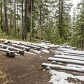 The amphitheater in Norris Campground.- Norris Campground
