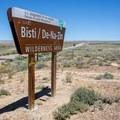 Welcome to the Bisti/De-Na-Zin Wilderness Area.- Bisti/De-na-zin Badlands