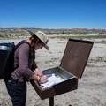 It is a good idea to sign in at the trailhead.- Bisti/De-na-zin Badlands