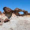 The Bisti Arch.- Bisti/De-na-zin Badlands
