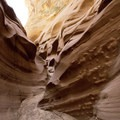 Making our way through the sandstone curves of Antelope Canyon.- Antelope Canyon