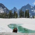 Don't be surprised if there is a marmot or two looking for snacks at Lake Solitude.- Paintbrush Canyon to Cascade Canyon Loop