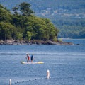You can rent paddleboards here and explore the bay.- Burton Island State Park