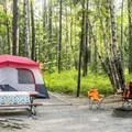 A relaxing camp at Apgar.- Apgar Campground