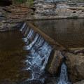 Man-made water shelf.- Gorge Overlook Trail