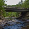 Cane Creek Gorge Bridge.- Gorge Overlook Trail