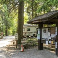 Registration kiosk at Sprague Creek.- Sprague Creek Campground