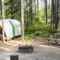 Fish Creek campsite.- Fish Creek Campground