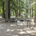 Hiker/biker campsite at Fish Creek.- Fish Creek Campground