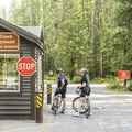 Entrance station for Fish Creek Campground.- Fish Creek Campground
