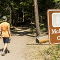 The trailhead for McDonald Falls.- McDonald Falls