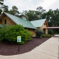 The nature center.- Trap Pond State Park