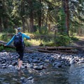 Ford Soda Butte Creek not far from the trailhead.- The Thunderer
