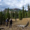 Return view just before fording Soda Butte Creek.- The Thunderer