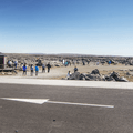 Crowds entering the trailhead.- Selfoss, Dettifoss, and Sanddalur