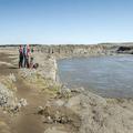 West bank of Selfoss.- Selfoss, Dettifoss, and Sanddalur