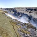 A rainbow over Dettifoss.- Selfoss, Dettifoss, and Sanddalur