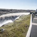 Dettifoss from the top viewing platform.- Selfoss, Dettifoss, and Sanddalur