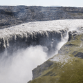 Dettifoss disappearing into the earth.- Selfoss, Dettifoss, and Sanddalur