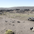 A basic campsite north of the parking area.- Selfoss, Dettifoss, and Sanddalur