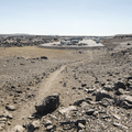 Returning to the parking area.- Selfoss, Dettifoss, and Sanddalur