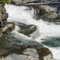 McDonald Falls.- Upper McDonald Creek Trail
