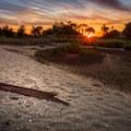 A beautiful sunset over Sandy Hook.- Sandy Hook