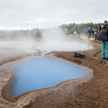 Blesi, a set of twin pools.- Geysir and Strokkur