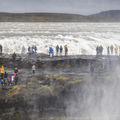 You will get wet in the mist as you walk out for the view.- Gullfoss