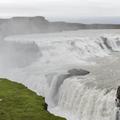Getting closer to the falls.- Gullfoss