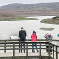 Looking upstream on the Hvítá.- Gullfoss